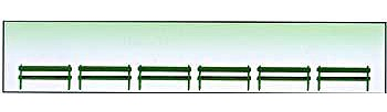 Model-Power Park Benches (6 Pack) O Scale Model Railroad Building Accessory #6058