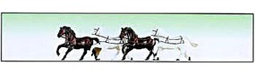 Model-Power Horses (4) O Scale Model Railroad Figure #6059