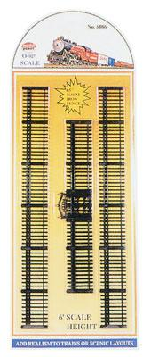 Model-Power Black Iron Fence O Scale Model Railroad Trackside Accessory #6086