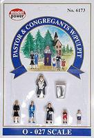 Model-Power Pastor & Congregants with Pulpit O Scale Model Railroad Figure #6173