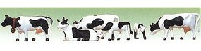 Model-Power Black & White Cows & Calves O Scale Model Railroad Figure #6175