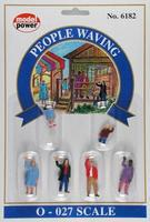 Model-Power People Waving (6) O Scale Model Railroad Figure #6182