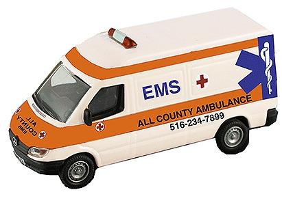 Model Power 1/43 Dodge Van EMS O
