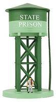 Model-Power State Prison Water Tower Built-Up HO Scale Model Railroad Building #626