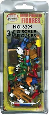 Model-Power 36 Painted Figures (people) O Scale Model Railroad Figure #6299