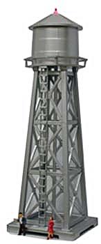 Model Power Water Tower Lighted Built-Up -- HO Scale Model Railroad Operating Accessory -- #630