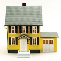 Model-Power Bensons House Built-Up O Scale Model Railroad Building #6370