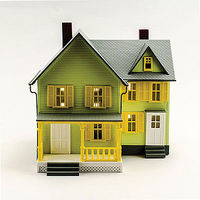 Model-Power Dr. Andrews House Built-Up O Scale Model Railroad Building #6373