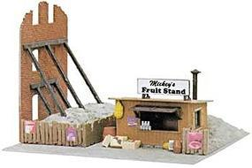 Model-Power Mickeys Fruit Stand Built-Up HO Scale Model Railroad Building #682