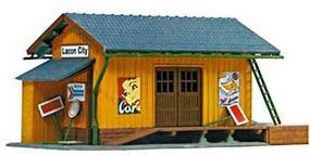 Model-Power Farmingdale Freight Station Built-Up HO Scale Model Railroad Building #694