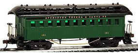 Model-Power 1890 Wooden-Type Coach Santa Fe (Re-Issue) HO Scale Model Train Passenger Car #716100