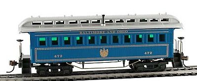 Model Power 1890 Wooden-Type Coach Baltimore & Ohio -- HO Scale Model Train Passenger Car -- #719525