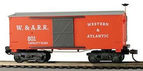 Model-Power 1860 Wooden-Type Boxcar Western & Atlantic HO Scale Model Train Freight Car #721044
