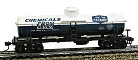Model-Power 40 Single-Dome Tank Car Union Carbine HO Scale Model Train Freight Car #732307