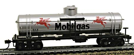Model Power 40' Single-Dome Tank Car Mobilegas -- HO Scale Model Train Freight Car -- #732694