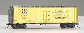 Model-Power 41 Steel Refrigerator Car Santa Fe HO Scale Model Train Freight Car #733001