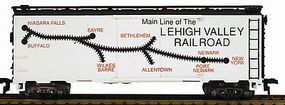 Model-Power 41 Steel Refrigerator Car Lehigh Valley Route Map HO Scale Model Train Freight Car #733307