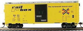 Model-Power 41 Boxcar Railbox HO Scale Model Train Freight Car #734231