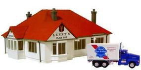 Model-Power Lennys Clambar Built-Up HO Scale Model Railroad Building #768