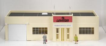Model Power Leviton Office Built-Up with Figures -- HO Scale Model Railroad Building -- #769