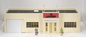 Model-Power Leviton Office Built-Up with Figures HO Scale Model Railroad Building #769