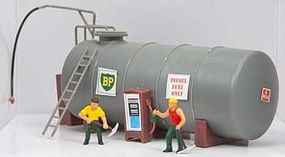Model-Power Trackside Oil Tank Built-Up HO Scale Model Railroad Building #773