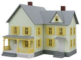 Model-Power Dr. Andrews House Built-Up HO Scale Model Railroad Building #780