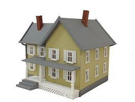 Model-Power Jacksons House Built-Up HO Scale Model Railroad Building #781