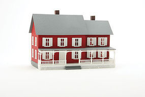 Model-Power Stevensons House Built-Up HO Scale Model Railroad Building #782