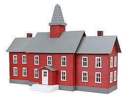 Model-Power Little Red School House Built-Up HO Scale Model Railroad Building #783