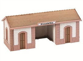 Model-Power Passenger Wayside Station Built-Up HO Scale Model Railroad Building #794