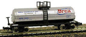 Model-Power 40 Chemical Tank Car Brea Chemicals, Inc. GATX N Scale Model Train Freight Car #83758