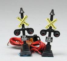 Model-Power Railway Signal 2 Crossing N Scale Model Railroad Operating Accessory #8574
