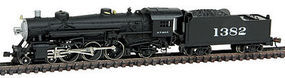 Model-Power 4-6-2 Pacific with Tender DCC/Sound ATSF N Scale Model Train Steam Locomotive #874001