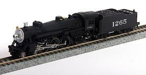 Model-Power 4-6-2 with Standard Tender ATSF N Scale Model Train Steam Locomotive #87400