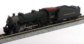 Model-Power 4-6-2 with Standard Tender PRR N Scale Model Train Steam Locomotive #87401