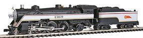 Model-Power Semi-Streamlined 4-6-2 w/Tender - Santa Fe N Scale Model Train Steam Locomotive #87421