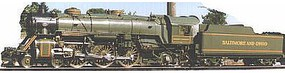 Model-Power 4-6-2 Loco with Tender Baltimore & Ohio N Scale Model Train Steam Locomotive #87437