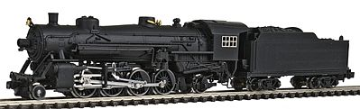 Model Power 2-8-2 Mikado w/Standard Tender Undecorated -- N Scale Model Train Steam Locomotive -- #87570