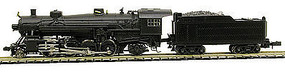 Model-Power 2-8-2 Mikado with Tender Undecorated N Scale Model Train Steam Locomotive #875701