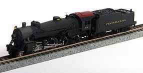 Model-Power 2-8-2 Mikado with Tender Pennsy N Scale Model Train Steam Locomotive #87571