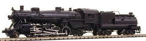 Model-Power 2-8-2 Mikado with Vanderbilt Tender Undecorated N Scale Model Train Steam Locomotive #87590