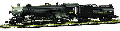 Model Power 2-8-2 Mikado w/Vandy Coal Tender DCC/Sound B&O -- N Scale Model Train Steam Locomotive -- #875911