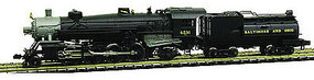 Model-Power 2-8-2 Mikado w/Vandy Coal Tender DCC/Sound B&O N Scale Model Train Steam Locomotive #875911