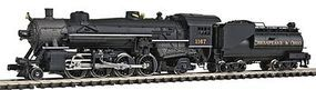 Model-Power 2-8-2 Mikado w/Vanderbilt Tender Chesapeake & Ohio N Scale Model Train Steam Locomotive #87595