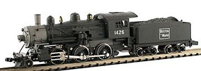 Model-Power Steam 2-6-0 Mogul Standard DC Boston & Maine N Scale Model Train Steam Locomotive #87601