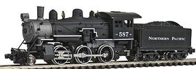 Model-Power Steam 2-6-0 Mogul Standard DC Northern Pacific N Scale Model Train Steam Locomotive #87606