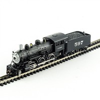Model-Power 2-6-0 Mogul DCC Santa Fe N Scale Model Train Steam Locomotive #876111