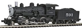 Model-Power 2-6-0 Mogul DCC Compatible Santa Fe N Scale Model Train Steam Locomotive #87611