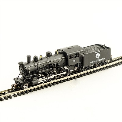 Model Power 2-6-0 Mogul DCC/Sound Army -- N Scale Model Train Steam Locomotive -- #876151